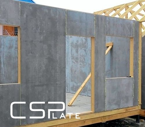 Cement bonded particle board - use