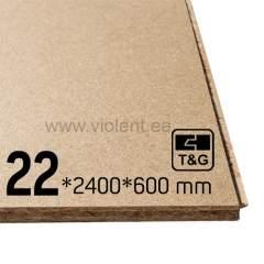 Puitlaastplaat P2 (T&G4 punnsoon) 2400х600х22 mm