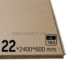 Puitlaastplaat P6 (T&G4 punnsoon) 2400х600х22 mm