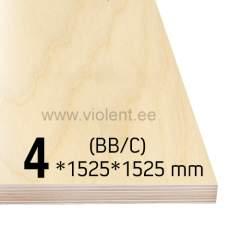 Kasevineer INT (BB/C) 1525x1525x4 mm