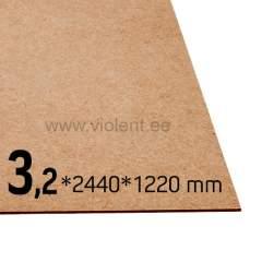 Puitkiudplaat 2440x1220x3.2 mm
