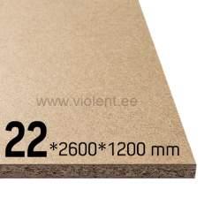 Puitlaastplaat P2 2600x1200x22 mm