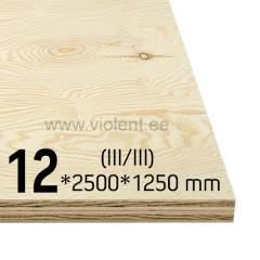 Pine Plywood EXT (III/III) 2500x1250x12 mm