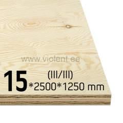 Mäntyvaneri EXT (III/III) 2500x1250x15 mm