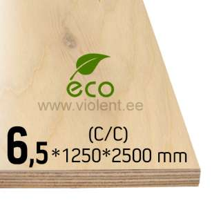 Birch Plywood EXT (C/C) 1250x2500x6,5 mm