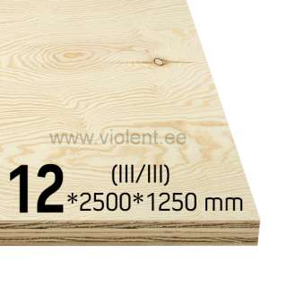 Pine Plywood EXT (III/III) 2500x1250x12 mm