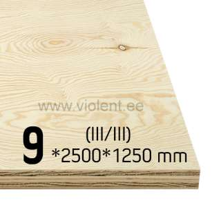 Pine Plywood EXT (III/III) 2500x1250x9 mm